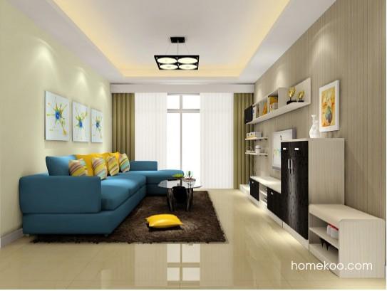 60平米房子装修果图之客厅