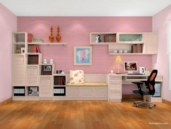 欧式书房效果图