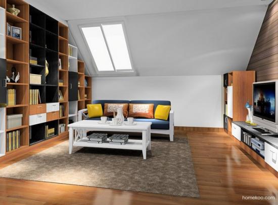 斜顶客厅如何装修 斜顶客厅装修效果图