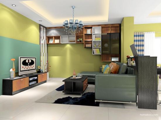 厨房色彩搭配装修效果图