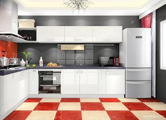 敞开式厨房效果图
