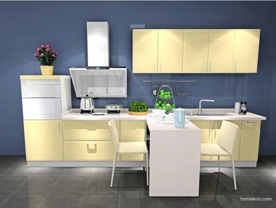 T型厨房设计