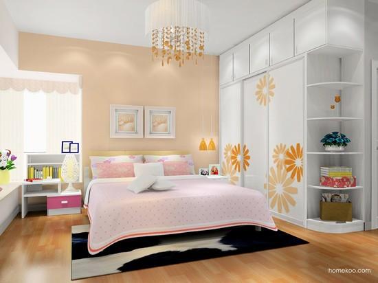 浪漫的女生卧室装修效果图