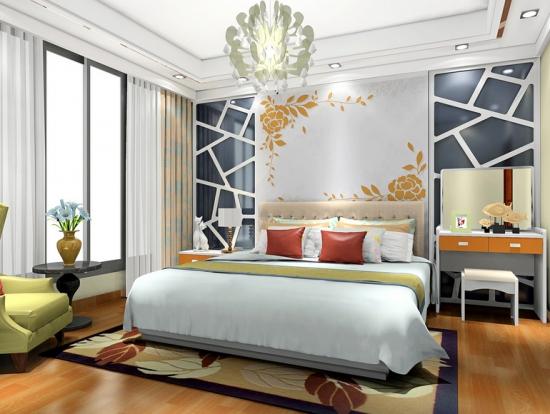 2014卧室装修效果图 高清图片
