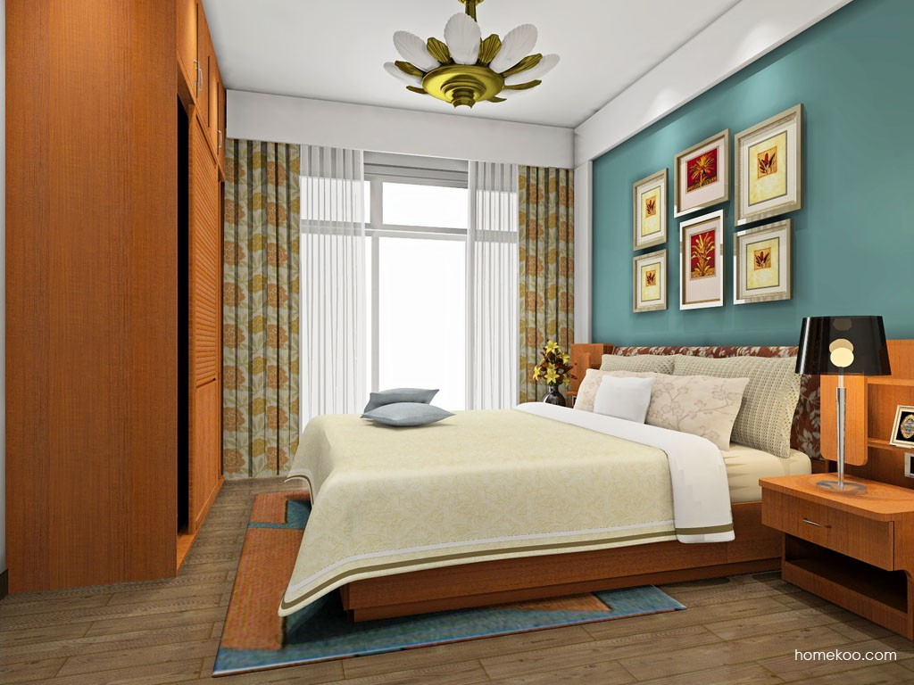 12-14平方东南亚家具风格卧室家具装修效果图套餐a182