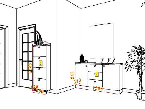 展示柜效果图手绘图