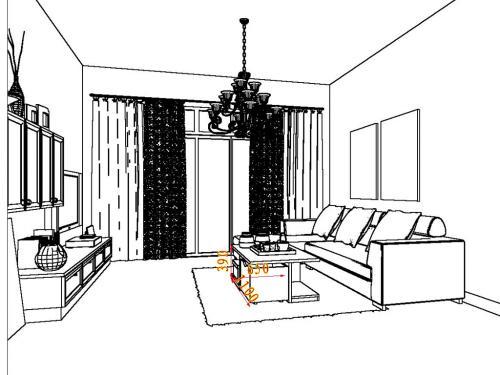 工程图 简笔画 平面图 手绘 线稿 500_375