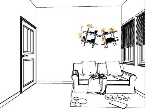 10-12平方韩式田园风格书房家具装修效果图套餐c10291