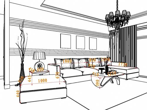 22平方以上北欧风格客厅家具装修效果图套餐d15668