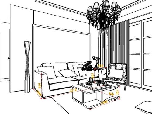 22平方以上北欧风格客厅家具装修效果图套餐d16854