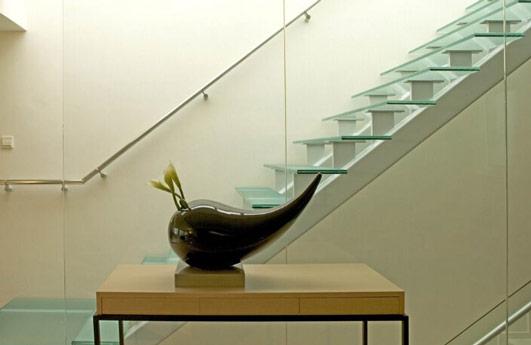 玻璃楼梯扶手图片 钢化玻璃楼梯扶手