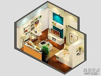 小户型客厅吊顶装修效果图