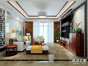 中式客厅吊顶装修效果图